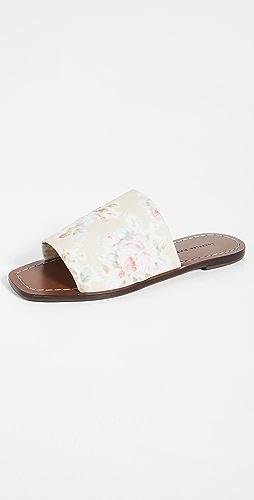 Loeffler Randall - Daria Stretch Square Toe Slide Sandals