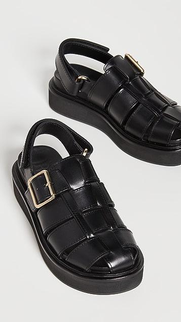 Loeffler Randall 固定带厚底笼状凉鞋
