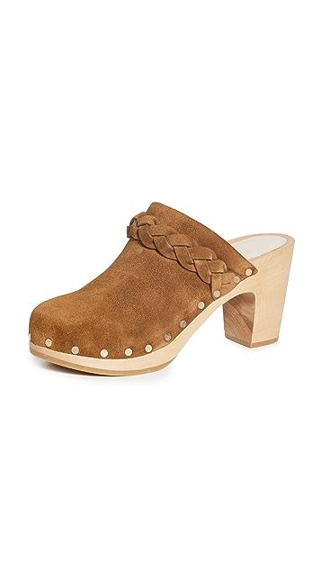 Loeffler Randall High Heel Clogs With Braid