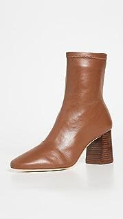 Loeffler Randall Elise Slim Ankle Booties With Block Heel
