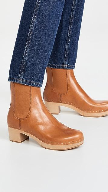 Loeffler Randall Low Heel Clog Chelsea Boots