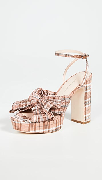 Loeffler Randall Pleated Platform Sandals