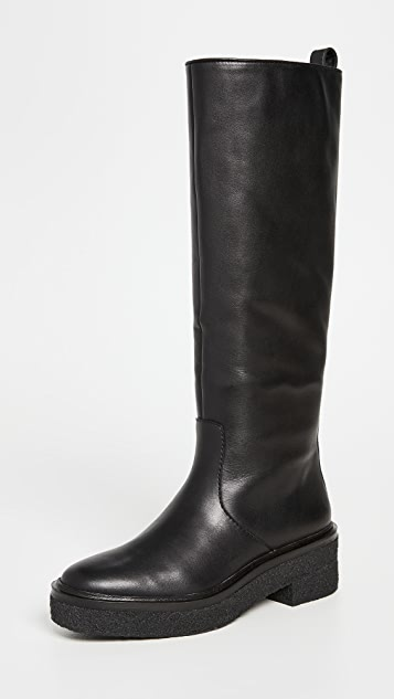 Loeffler Randall Tall Shaft Boots with Crepe Sole