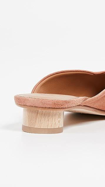 LOQ Обувь на плоской подошве с квадратным мыском Carmen