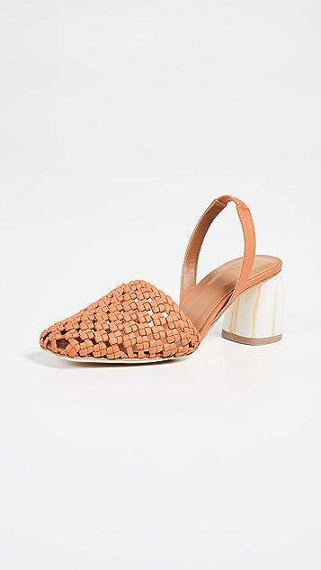LOQ Туфли-лодочки Nina из ткани с ремешком на пятке