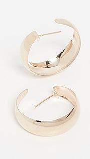 Loren Stewart 10k 凸圆形圈式耳环