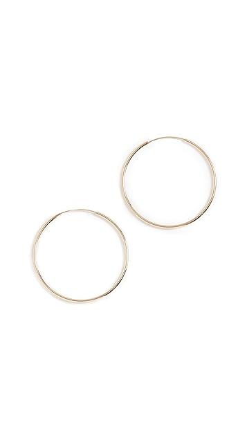 Loren Stewart 14k Winona Hoop Earrings