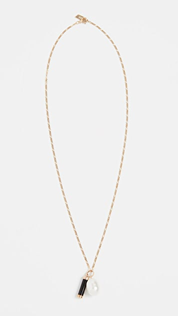 Loren Stewart 14k Pearl And Baril Pendant Necklace