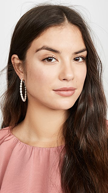 Loren Stewart Nina Hoop Earrings