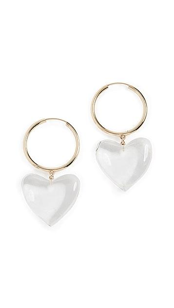 Loren Stewart 14k Corazon Hoop Earrings