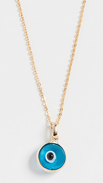 Loren Stewart 14k Evil Eye Necklace