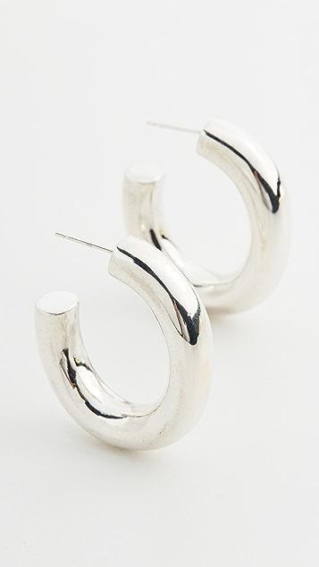 Loren Stewart 纯银泡泡状圈式耳环