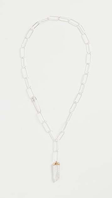 Loren Stewart Pearl Paleta Chain Necklace