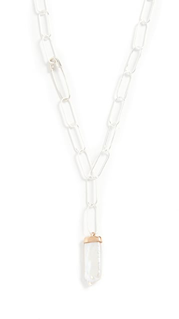Loren Stewart Pearl Paleta Chain Necklace