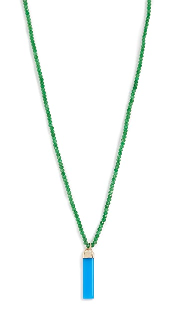 Loren Stewart Blue Agate Paleta Beaded Necklace