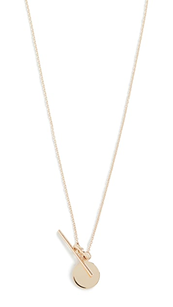 Loren Stewart 14k Disk and Toggle Necklace