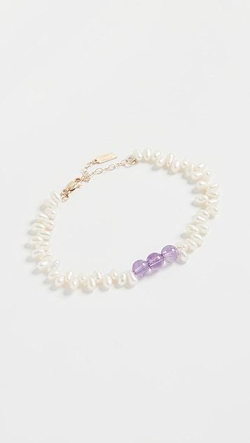 Loren Stewart 紫水晶和珍珠手链