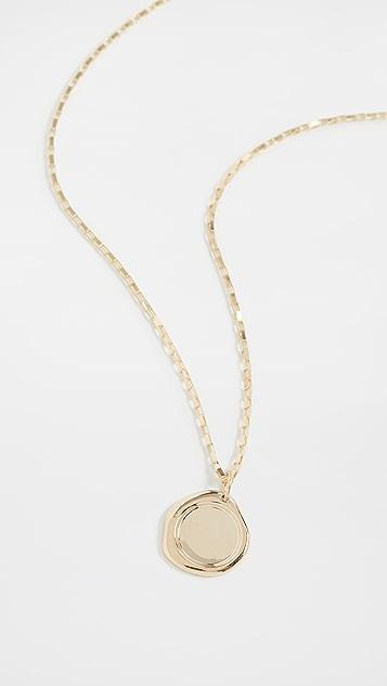 Loren Stewart 14k Gold Melt Pendant Necklace