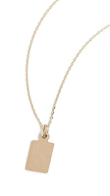 Loren Stewart Klint ID Tag Charm Necklace