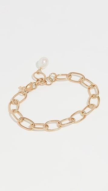 Loren Stewart 工业风格 XXL 链条珍珠踝链
