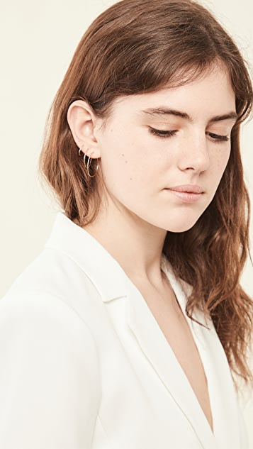 Loren Stewart Infinity 圈式耳环套装