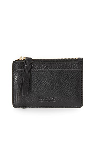 Lotuff Leather Zipper Credit Card Wallet