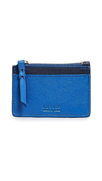 Lotuff Leather Leather Zipper Card Case