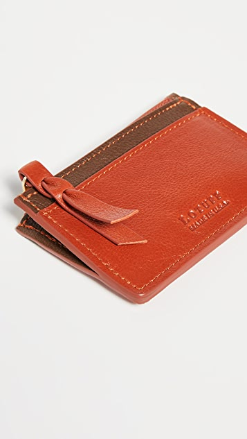 Lotuff Leather Leather Zipper Card Case