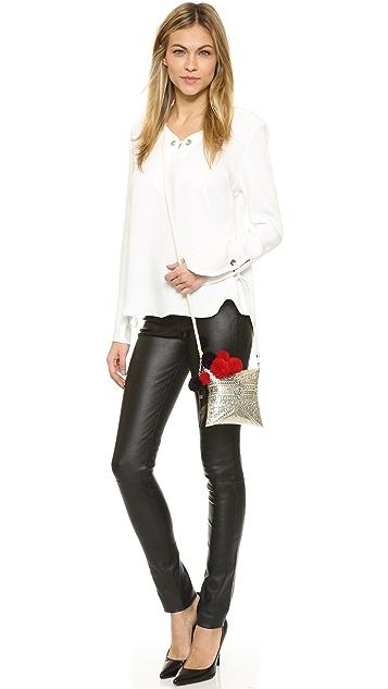 Love Binetti Jenny Luis Metal Cross Body Bag