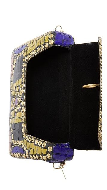 Love Binetti Metal Box Cross Body Bag