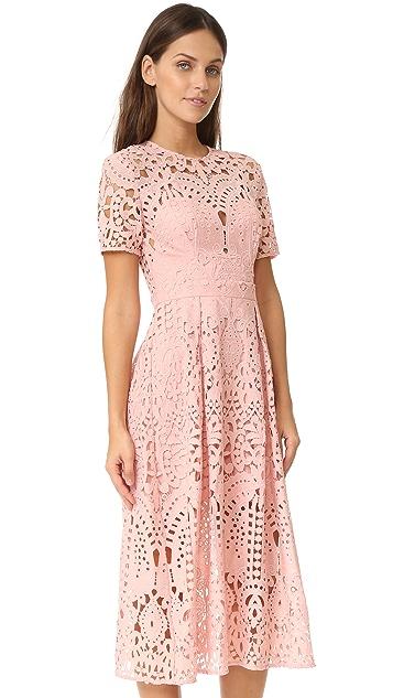 Lover Harmony Pleat Midi Dress