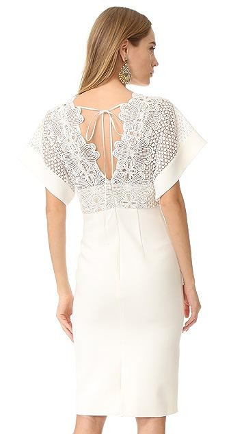 Lover Camelia Bonded Midi Dress