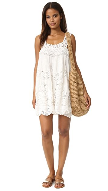 Love Sam Flower Crochet Dress