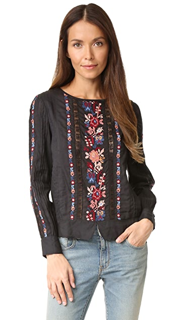 Love Sam Victorian Long Sleeve Top