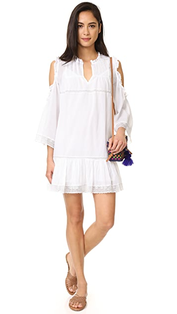 Love Sam Cold Shoulder Pintuck Dress