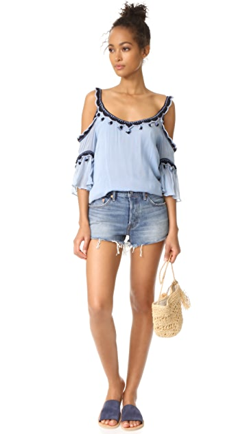 Love Sam Cold Shoulder Blouse