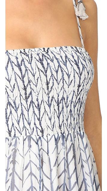 Love Sam Smocked Top Midi Dress