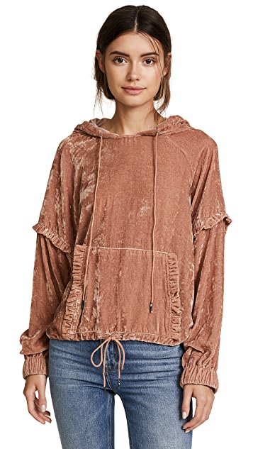 Love Sam Velvet Ruffle Pull Over