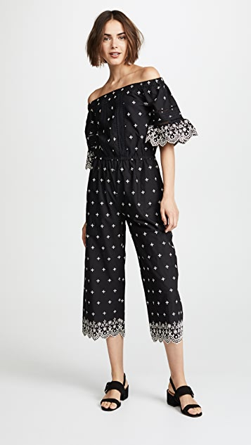 Love Sam Water Lily Off the Shoulder Jumpsuit