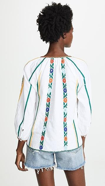 Love Sam Jillian Embroidered Blouse
