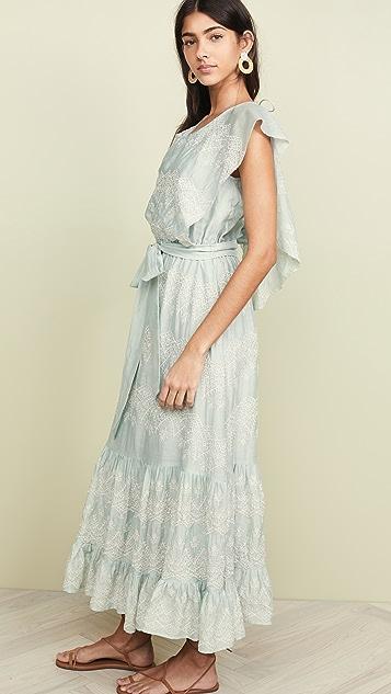 Love Sam Макси-платье Talullah с вышивкой