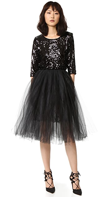 Loyd/Ford Sequin Dress with Tulle