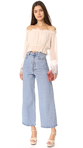 Loyd/Ford Peasant Crop Top
