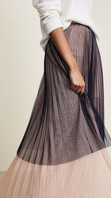 Loyd/Ford Pleated Maxi Tulle Skirt