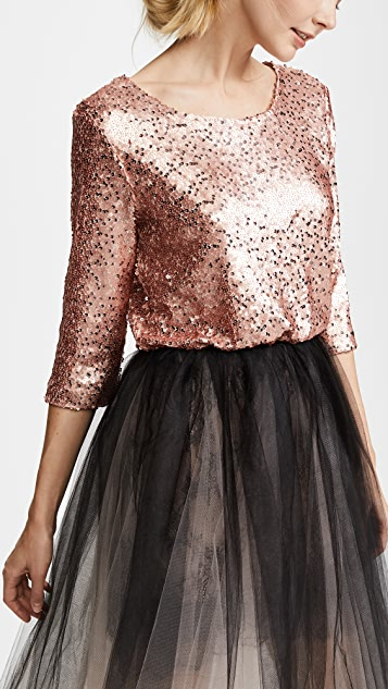 Loyd/Ford Sequin Tulle Petticoat Dress