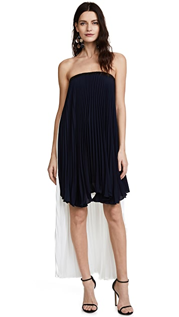 Loyd/Ford Strapless High Low Dress