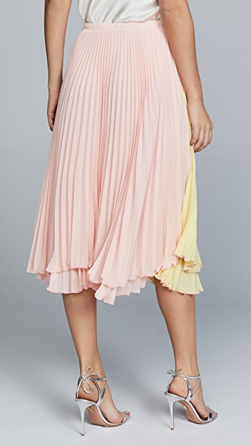 Loyd/Ford Pleated Two Tone Skirt