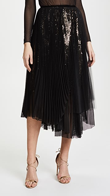 Loyd/Ford Sequin Skirt - Silver/Black