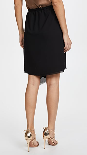 Loyd/Ford Black Drape Skirt