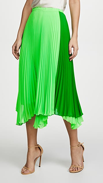 Loyd/Ford Two Tone Pleated Skirt
